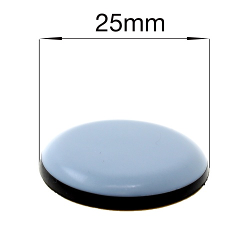 25mm ROUND SELF ADHESIVE PTFE TEFLON GLIDES FOR FURNITURE & APPLIANCES
