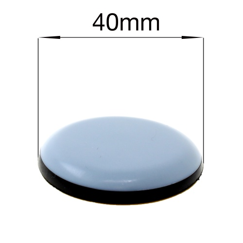 40mm ROUND SELF ADHESIVE PTFE TEFLON GLIDES FOR FURNITURE & APPLIANCES