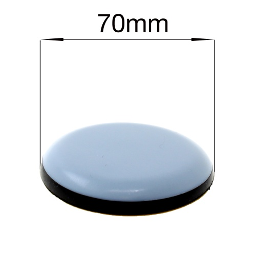 70mm ROUND SELF ADHESIVE PTFE TEFLON GLIDES FOR FURNITURE & APPLIANCES