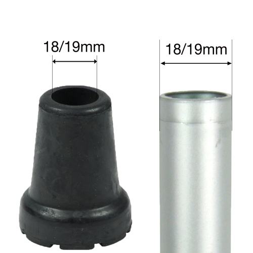 18/19mm (3/4'') SHOCK ABSORBING RUBBER FERRULES