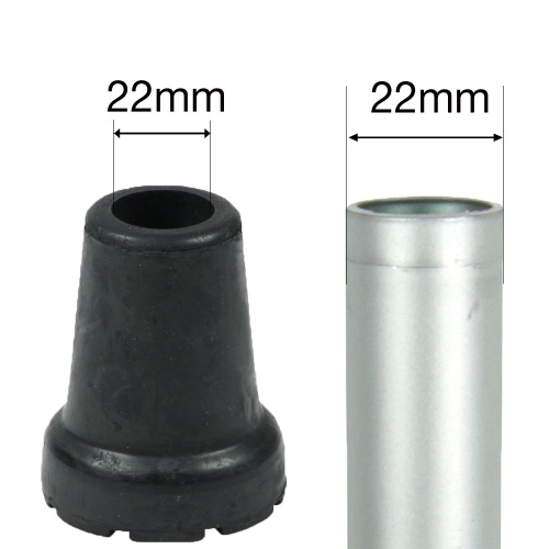 22mm (7/8'') SHOCK ABSORBING RUBBER FERRULES