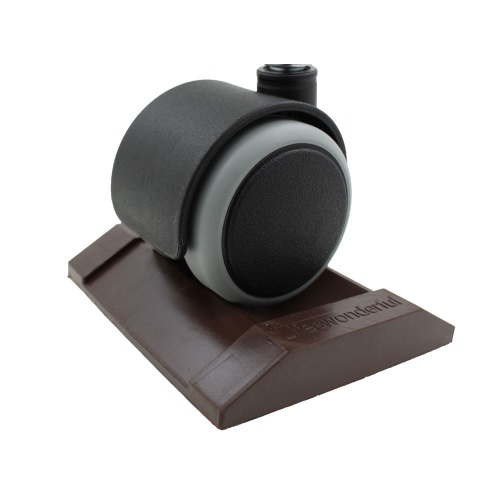 Solid Rubber Furniture Caster Cups For Beds, Sofas & Chairs - Brown