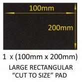 100mm x 200mm LARGE RECTANGULAR SELF ADHESIVE ''CUT TO SIZE'' FELT PADS