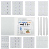 106pcs Assorted Self Adhesive Furniture Felt Pads - White