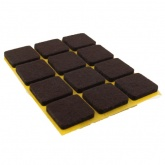 22mm SQUARE SELF ADHESIVE FELT PADS