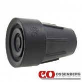 19mm (3/4'') Ossenberg Heavy Duty Rubber Ferrules Black