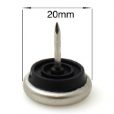 20mm NAIL ON METAL GLIDES FEET FOR CHAIR LEGS | PROTECT YOUR FLOOR