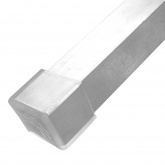 25mm Clear Square Tube Ferrules For Table & Chair Legs & All Other Tubular Feet