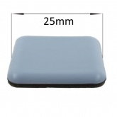 25mm Square PTFE Self Adhesive Glides