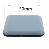 50mm Square PTFE Self Adhesive Glides