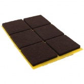 28mm SQUARE SELF ADHESIVE FELT PADS