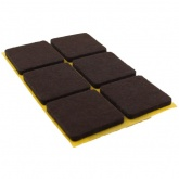30mm SQUARE SELF ADHESIVE FELT PADS