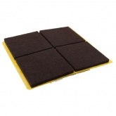 40mm SQUARE SELF ADHESIVE FELT PADS