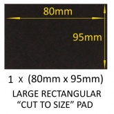 80mm x 95mm LARGE RECTANGULAR SELF ADHESIVE ''CUT TO SIZE'' FELT PADS