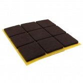 25mm SQUARE SELF ADHESIVE FELT PADS