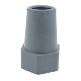22mm (7/8'') GREY PREMIUM RUBBER FERRULES FOR ALUMINUM CRUTCHES