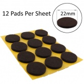 22mm Round Self Adhesive Felt Pads Ideal For Furniture & Also For Table & Chair Legs