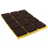 22mm Square Self Adhesive Felt Pads Ideal For Furniture & Also For Table & Chair Legs