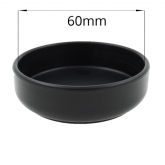 Black Furniture Caster Cup With Rubber Base