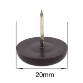 20mm NAIL ON BROWN PLASTIC FEET FOR CHAIR LEGS | PROTECT YOUR FLOOR
