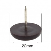 22mm NAIL ON BROWN PLASTIC FEET FOR CHAIR LEGS | PROTECT YOUR FLOOR