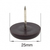 25mm NAIL ON BROWN PLASTIC FEET FOR CHAIR LEGS | PROTECT YOUR FLOOR