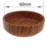 DARK WOOD EFFECT CASTER CUP WITH RUBBER BASE | PROTECT YOUR WOODEN FLOORS