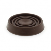 45mm BROWN ROUND RUBBER CASTER CUP | PROTECT YOUR FLOORING