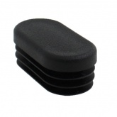 { 20mm x 10mm } Oval Tube Ribbed Inserts For Legs Of Desks, Table & Chairs