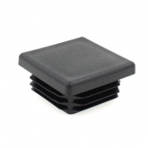 20mm SQUARE TUBE RIBBED INSERTS END CAPS FOR DESKS, TABLES & CHAIR LEGS