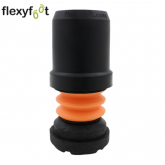 19mm (3/4'') BLACK FLEXYFOOT FERRULES FOR WALKING STICKS & CRUTCHES