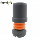 22mm (7/8'') FLEXYFOOT GREY FERRULE FOR CRUTCHES