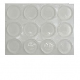 22mm ROUND CLEAR BUMPERS ( 12 PADS PER SHEET )