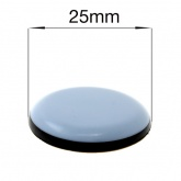 25mm ROUND SELF ADHESIVE PTFE COATED GLIDES FOR FURNITURE & APPLIANCES