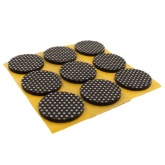 30mm ROUND NON-SLIP COATED SELF ADHESIVE FELT PADS