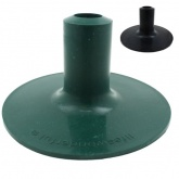 BOWLING GREEN / GRASS / TURF RUBBER FERRULES FOR WALKING STICKS & CRUTCHES