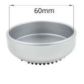 Silver Furniture Caster Cup With Rubber Base