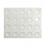 10mm ROUND CLEAR BUMPERS ( 20 PADS PER SHEET )